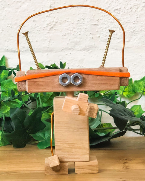 'Fitness Freddie' is one of the gang on our wood craft workshop for kids