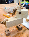 Make a wooden gift at an adults only woodworking session