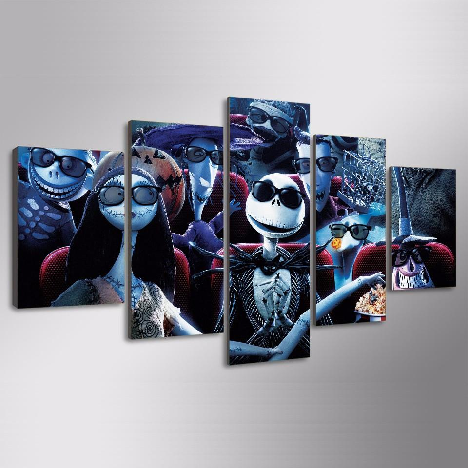 Nightmare Before Christmas Theatre - Movie Canvas Wall Art – Canvas ...
