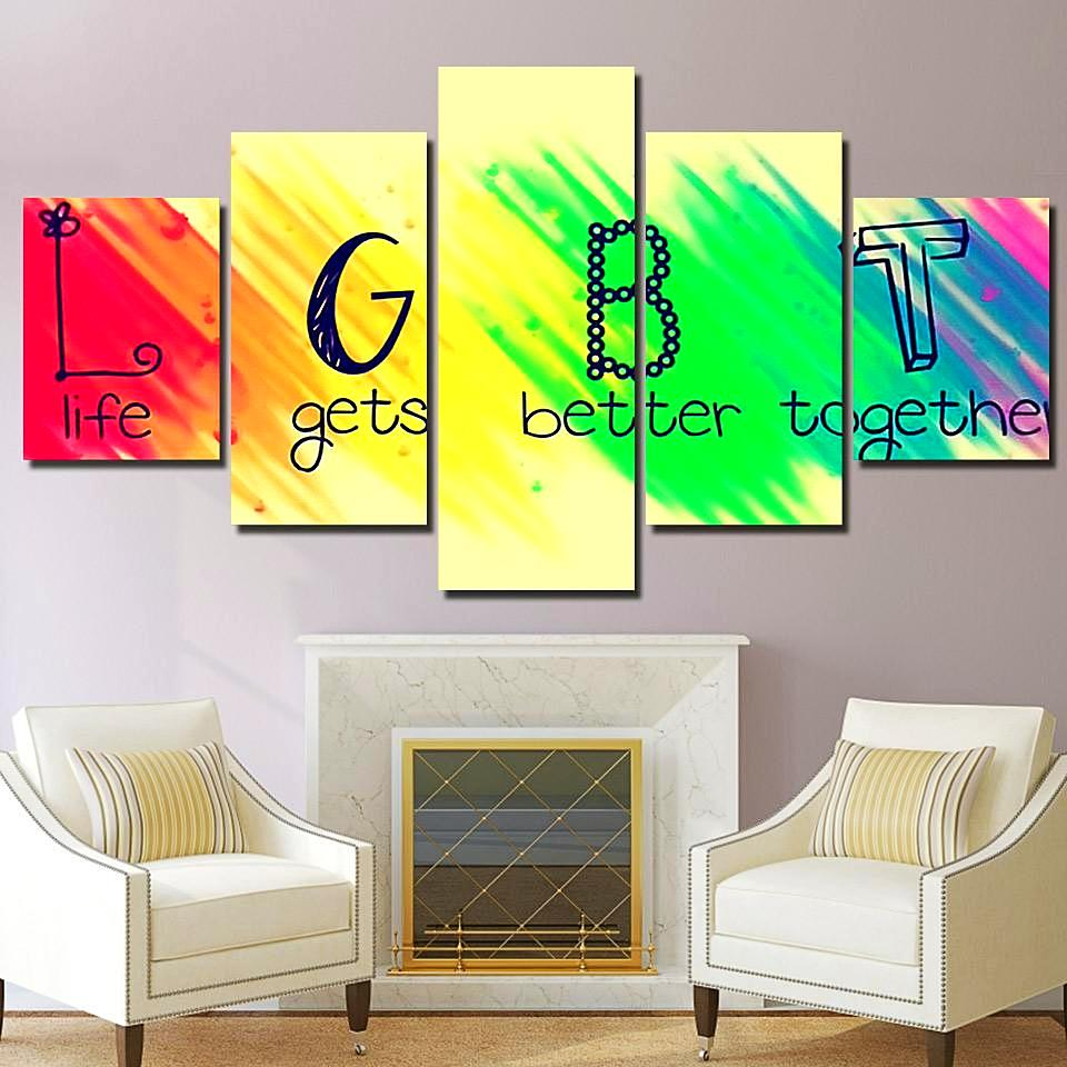 Life Gets Better Together - LGBT Canvas Wall Art – Canvas Storm