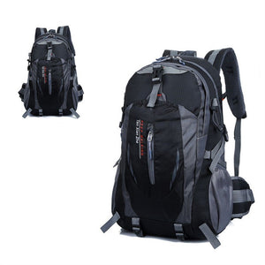 Waterproof Outdoor Sports Climbing Backpack Bag Cover Mountaineering Backpack Shoulder Bag Camping Hiking Backpack (Black)