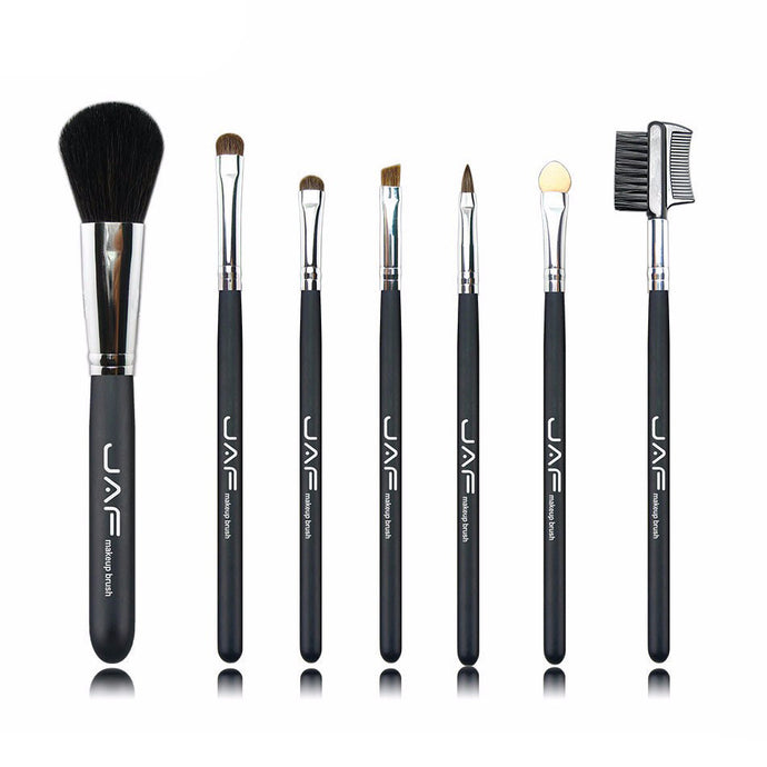Retail JAF 7 Pcs Studio Makeup Brushes Goat Pony Horse Natural Hair Conveniently Portable Travelling Make Up Brush Set 717PY