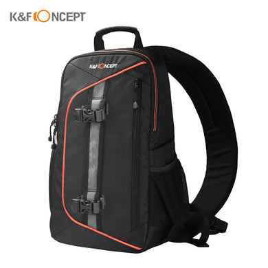 K&F CONCEPT Digital DSLR Camera Bag Backpack Case Travel Sling Shoulder Bag Shockproof Waterproof with Lens Cleaning Set for Canon Nikon Sony Outdoor Photography