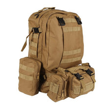 Load image into Gallery viewer, 55L Molle Combination Backpack Hiking Camping Mountaineer Military Backpack Outdoor Bag Tactical Trekking Rucksack Backpack Camo