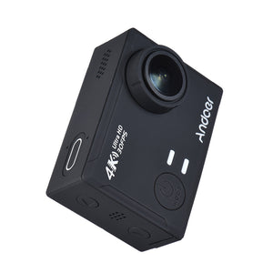 "Andoer AN100 4K WiFi Action Sports Camera 30MP 1080P/120fps 2.0"" IPS Screen 170° Wide Angle Waterproof 45m Support Gyro G-sensor FPV External Mic with Hard Case"