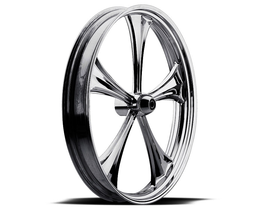 Black 21-inch Forged 2D 3D Wheels - All Star Custom Motorcycle Wheel TOL Designs