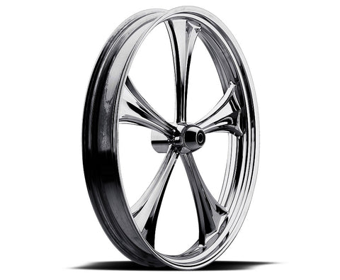 Image of Black 16-inch Forged 2D 3D Wheels - All Star Custom Motorcycle Wheel TOL Designs