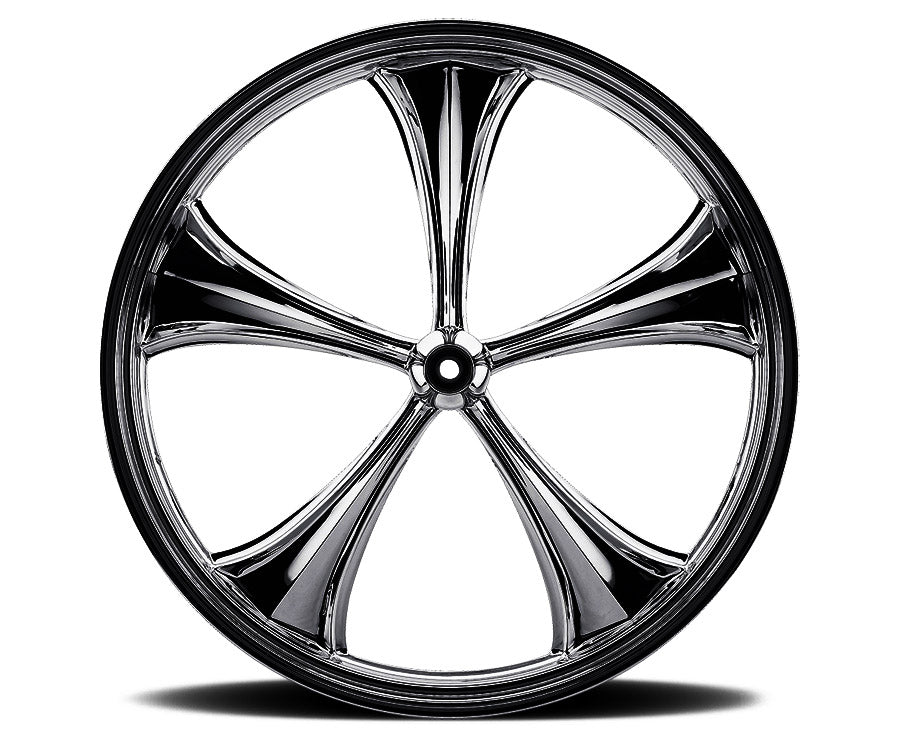 Black 16-inch Forged 2D 3D Wheels - All Star Custom Motorcycle Wheel TOL Designs