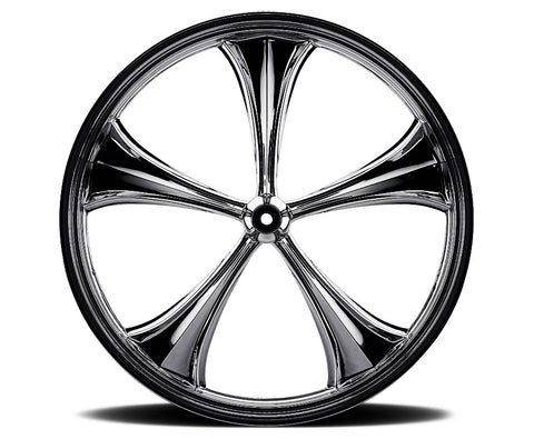 Black 19-inch Forged 2D 3D Wheels - All Star Custom Motorcycle Wheel TOL Designs