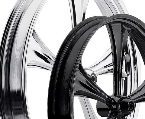 17-inch Custom Motorcycle Wheels - All Star 2D Wheels | TOL Designs