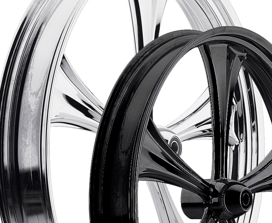 21-inch Custom Motorcycle Wheels - All Star 2D Wheels | TOL Designs