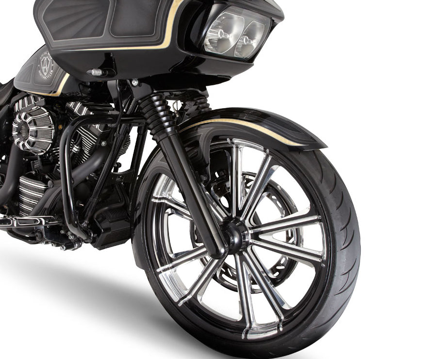 Smooth Harley Davidson Black Fork Legs