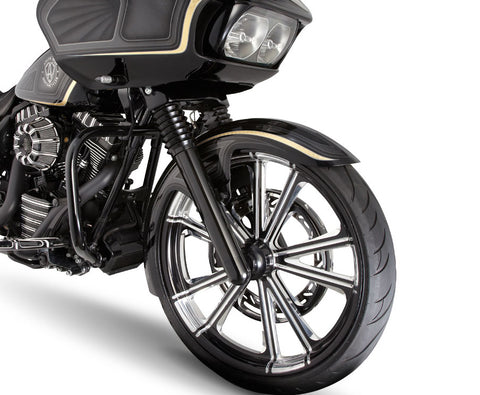 Image of Smooth Harley Davidson Black Fork Legs