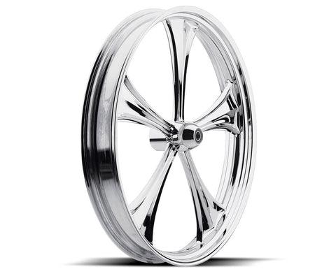 Chrome 19-inch Forged 2D 3D Wheels - All Star Custom Motorcycle Wheel TOL Designs