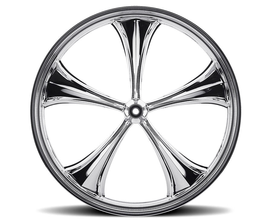 Chrome 26-inch Forged 2D 3D Wheels - All Star Custom Motorcycle Wheel TOL Designs