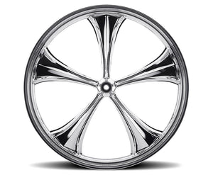 Chrome 21-inch Forged 2D 3D Wheels - All Star Custom Motorcycle Wheel TOL Designs