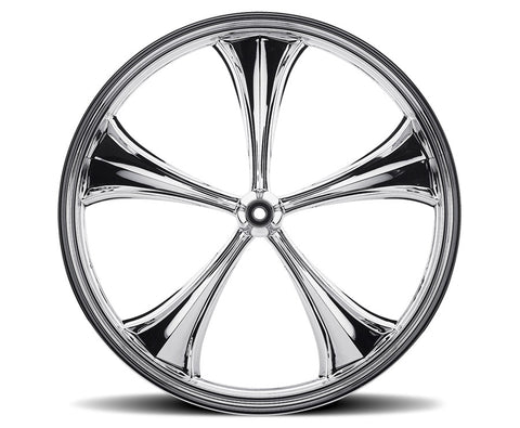 Image of Chrome 23-inch Forged 2D 3D Wheels - All Star Custom Motorcycle Wheel TOL Designs
