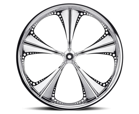 Image of 21-inch Custom Motorcycle Wheels - Christopoly Wheels | TOL Designs