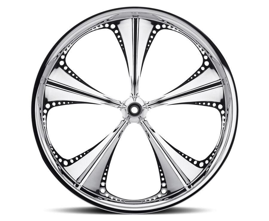 30-inch Custom Motorcycle Wheels - Christopoly Wheels | TOL Designs