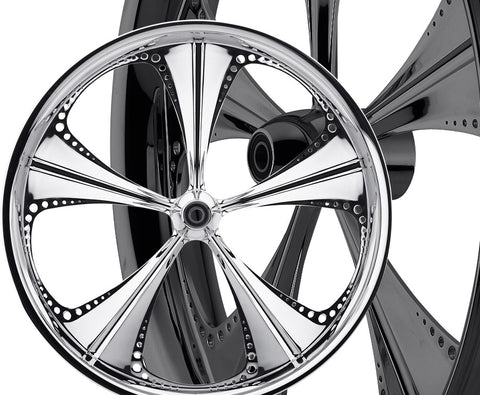 Image of 17-inch Custom Motorcycle Wheels - Christopoly Wheels | TOL Designs