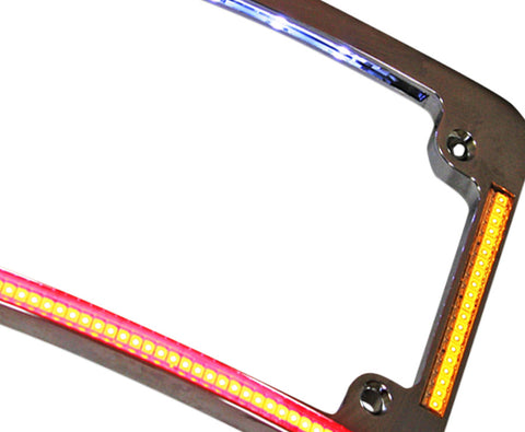 Motorcycle License Plate Frame - LED All In One | TOL Designs
