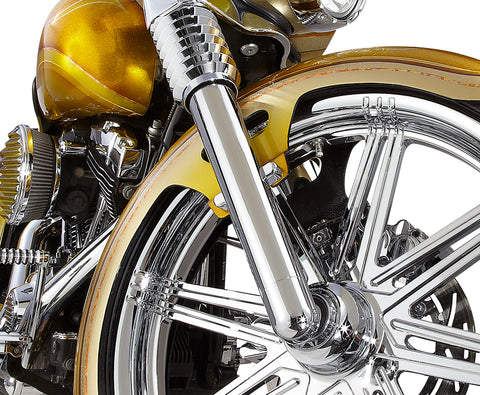 Image of Smooth Harley Davidson Chrome Fork Legs