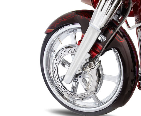 Image of Chrome ″Hot Legs″ Fork Legs Deep Cut