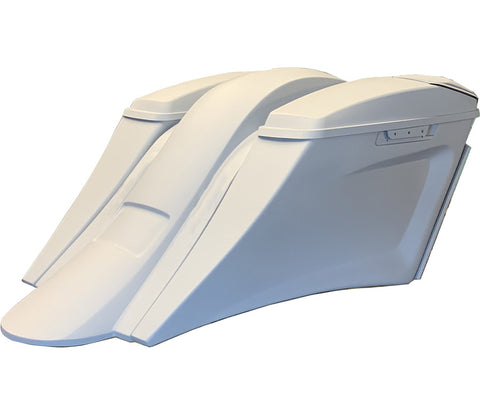 Image of El Jefe Rear End Kit - Custom Stretched Hard Saddlebags | TOL Designs