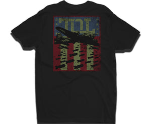 Men's Black Airplane Bomber Graphic T-Shirt | TOL Designs