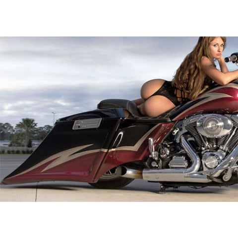 Image of Push In Side Covers for 2009 2010 2011 2012 2013 Harley Touring Motorcycles TOL Designs Pop On Side Panels
