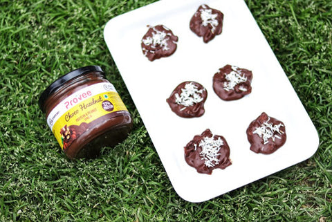 Provee No Bake Choco Hazelnut Coconut Cookies