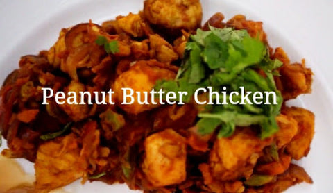 A close up of the the Peanut Butter Chicken