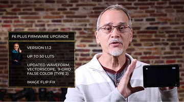 FIRMWARE Explained Demo FEELWORLD F6 Plus Field Monitor Firmware Update 1.1.2 version with Waveform