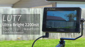 "FEELWORLD LUT7S 7 ""Ultra Bright 2200nit Touch Monitor dengan 3D LUT Waveform untuk Blackmagic BMPCC 6k"