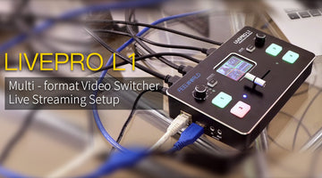 FEELWORLD LIVEPRO L1 4 x HDMI Video Switcher USB3.0  Live Streaming T-Bar Switching  Review