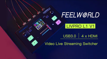 FEELWORLD LIVEPRO L1 V1 | Fantastisk Mini 4xHDMI USB3.0 Video Live Streaming Switcher Mixer