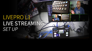 FEELWORLD LIVEPRO L1  Mini Video Switcher Mixer 4HDMI input USB3.0 Live Streaming Unboxing & Review