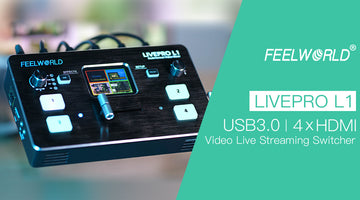 FEELWORLD LIVEPRO L1 Video-Mixer-Umschalter mit mehreren Kameras 4 HDMI-Eingang USB3.0 Production Live Streaming