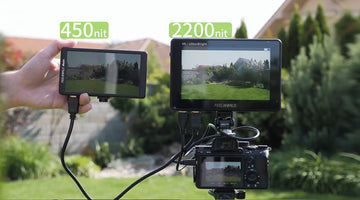 FEELWORLD New Release LUT7 Review 7 Ultra Bright 2200nit Touch Screen Field Monitor LUT Waveform