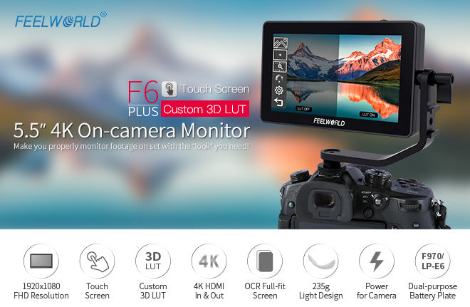 5.5 inch 3D LUT touchscreen monitor