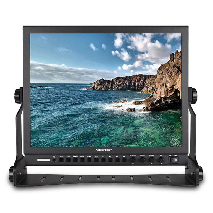 SEETEC P150-3HSD 15 Inch Aluminum HD Pro 3G-SDI HDMI Broadcast Monitor with Peaking Focus Assist