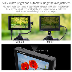 7 inch daylight viewable field monitor