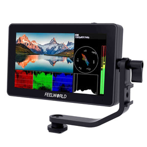 FEELWORLD F6 PLUS 5.5 inch Layar Sentuh kecil 3D LUT Kamera DSLR Field Monitor 1920x1080 HD 4K HDMI