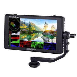 "FEELWORLD LUT6 6 ""2600nits HDR / 3D LUT Touchscreen DSLR Camera Field Monitor dengan Waveform 4K HDMI"