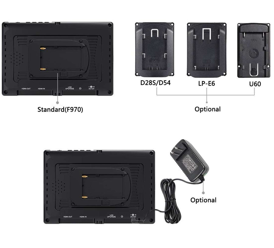 Feelworld 12V 1.5A Power Adapter for Camera Monitor Included British Standard and European Standard