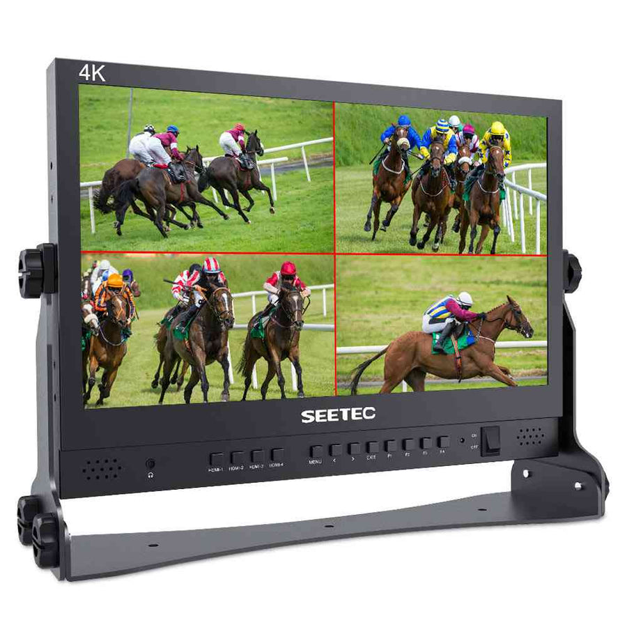 SEETEC ATEM156 15.6 Inch Live Streaming Broadcast Monitor with 4 HDMI Input Output
