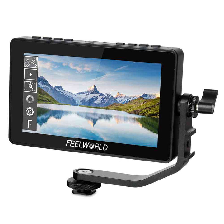 FEELWORLD F5 Pro V2 5.5 Inch Touch Screen 3D LUT DSLR Camera Field Monitor with External Kit