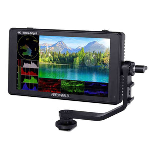FEELWORLD LUT6S 6 polegadas 2600nits HDR / 3D LUT Touch Screen DSLR Camera Field Monitor 3G-SDI 4K HDMI