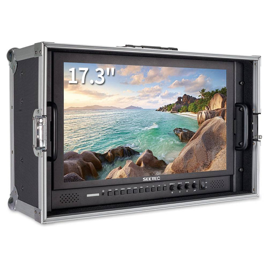 "SEETEC 17.3"" Aluminum Design 1920×1080 Carry-on Broadcast Director Monitor with 3G-SDI HDMI AV YPbPr"
