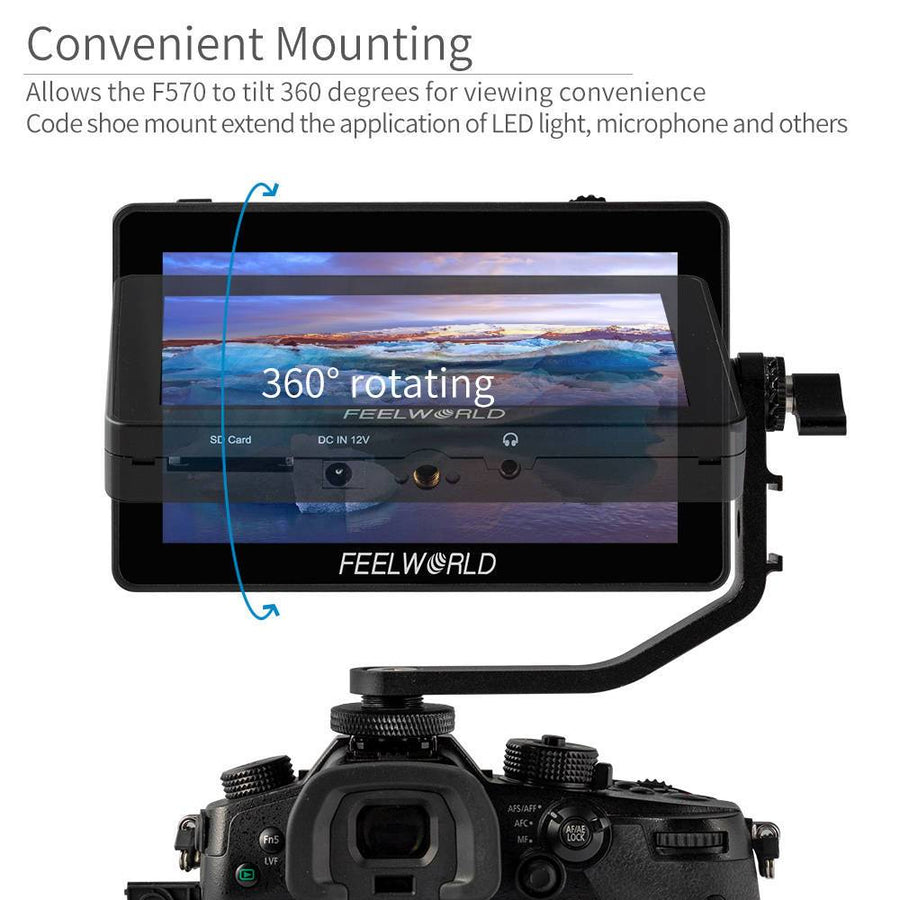 Tilt Arm for FEELWORLD F6 PLUS 5.5 Inch 3D LUT Touch Screen Camera Field Monitor